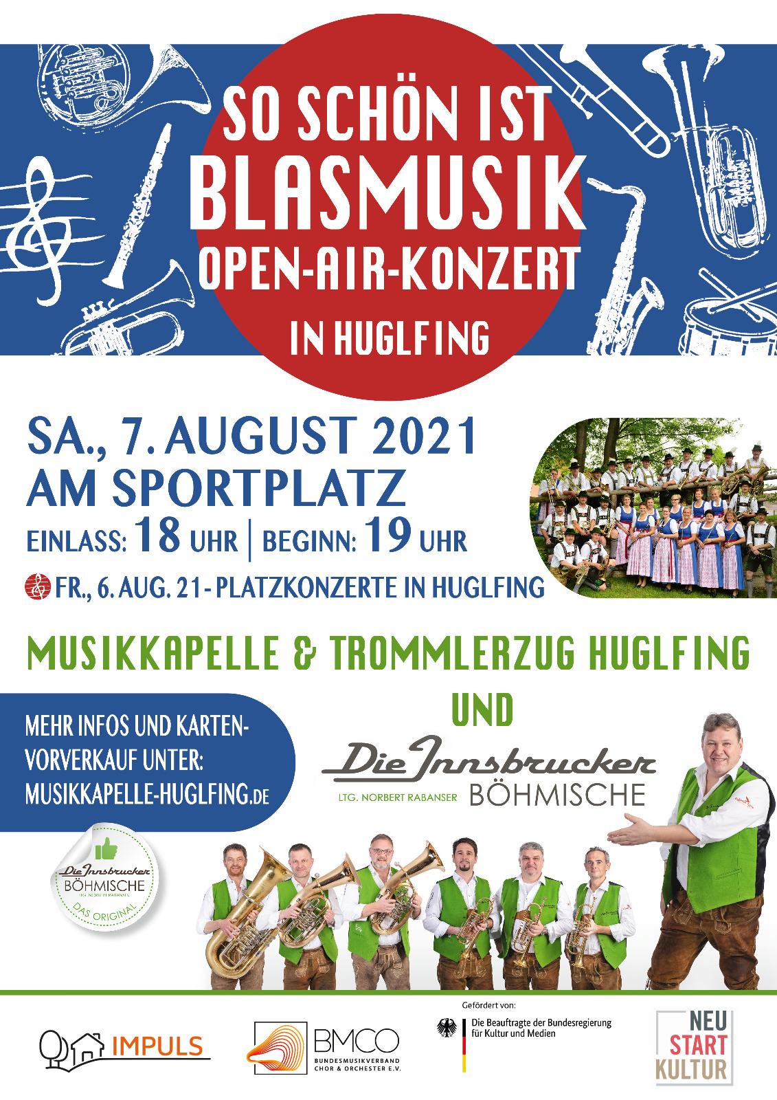 So schön ist Blasmusik - Open-Air-Konzert in Huglfing