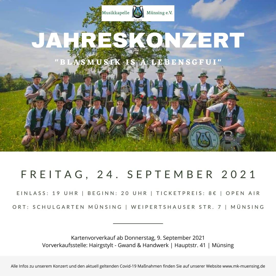 Jahreskonzert Musikkapelle Münsing - Open Air